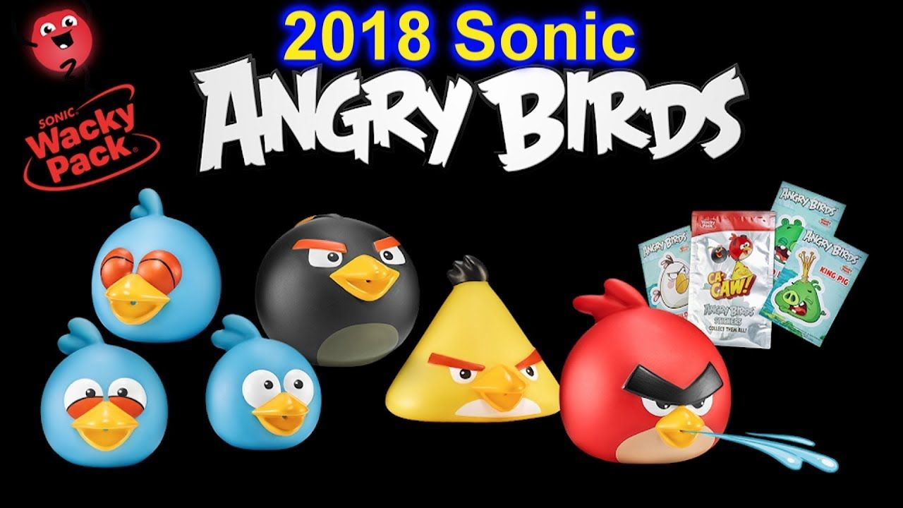 Sonic Wacky Pack 2018 Angry Birds Water Squirters Kids Meal Toys