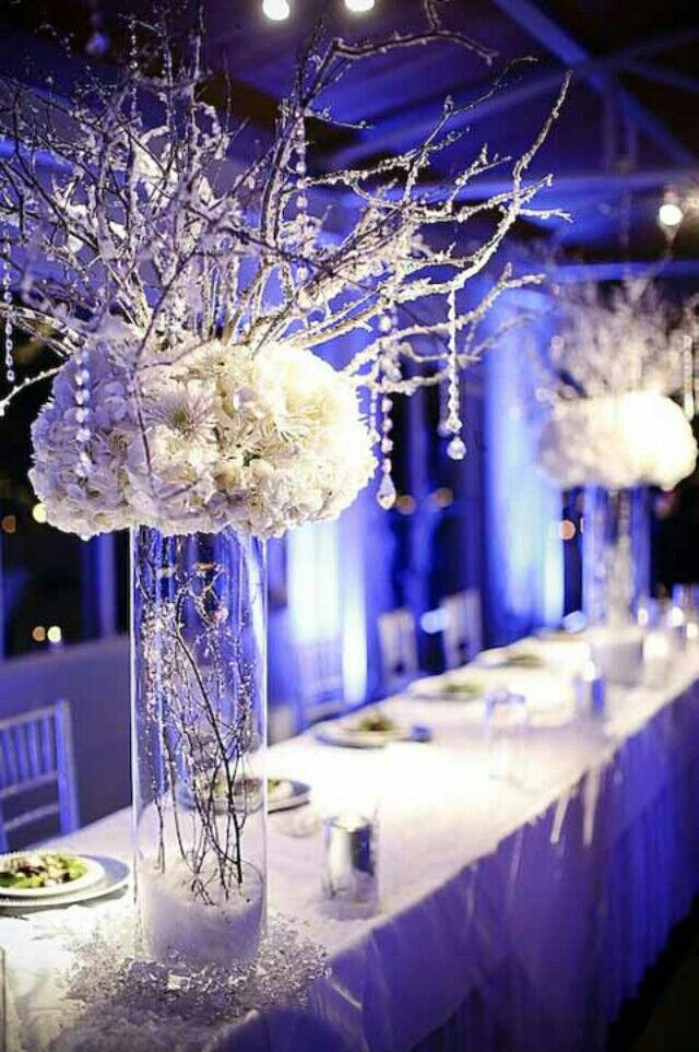 Elegant centerpieces (winter theme) | Plan a dinner party ...