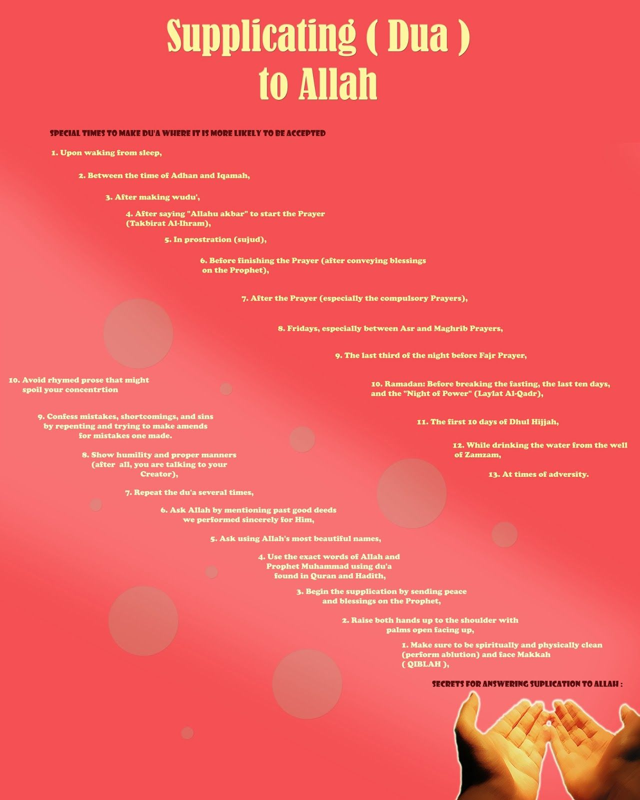Supplicating to Allah ta'ala - making Dua | For the love of