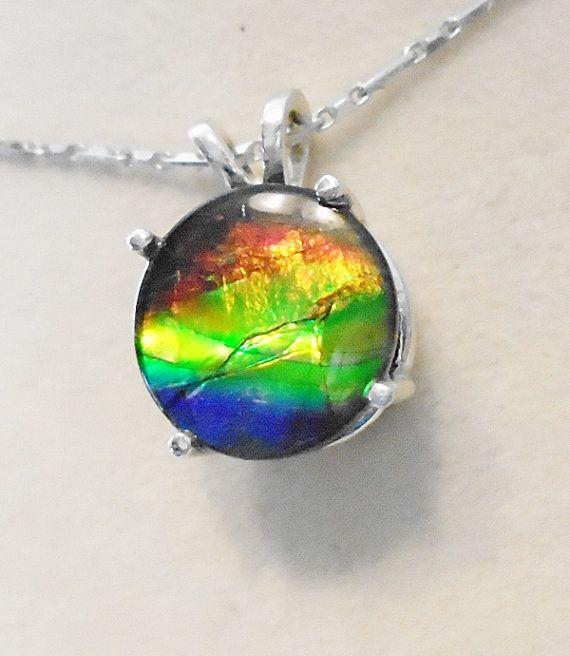 cd6e7fe38f2fc3 Canadian Ammolite Pendant by UniqueStonez on Etsy Color Changer, Rare  Gemstones, Rainbow Colors,