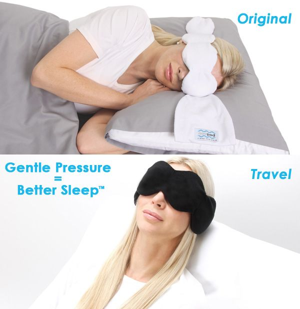The Nodpod Is A Uniquely Shaped Weighted Sleep Mask That Can Be Used In Any Sleeping Position Upright For Travel Or In Any Sleep Therapy Better Sleep Therapy