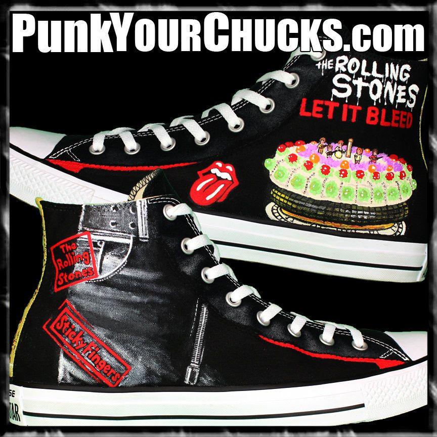 2533b4775479 Rolling Stones Custom Converse Sneakers