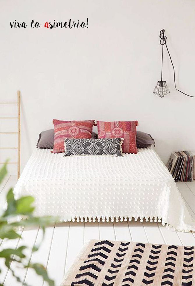 Ideas camas sin cabecero - Bed without headboard | Cabeceros ...