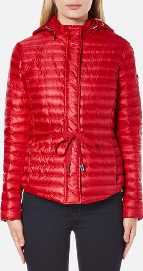 dd3b4e70f6d3 MICHAEL MICHAEL KORS Women's Packable Puffer Jacket Red L Crafted from  lightweight nylon with a duck down and waterfowl feather padding, the  channel quilted ...