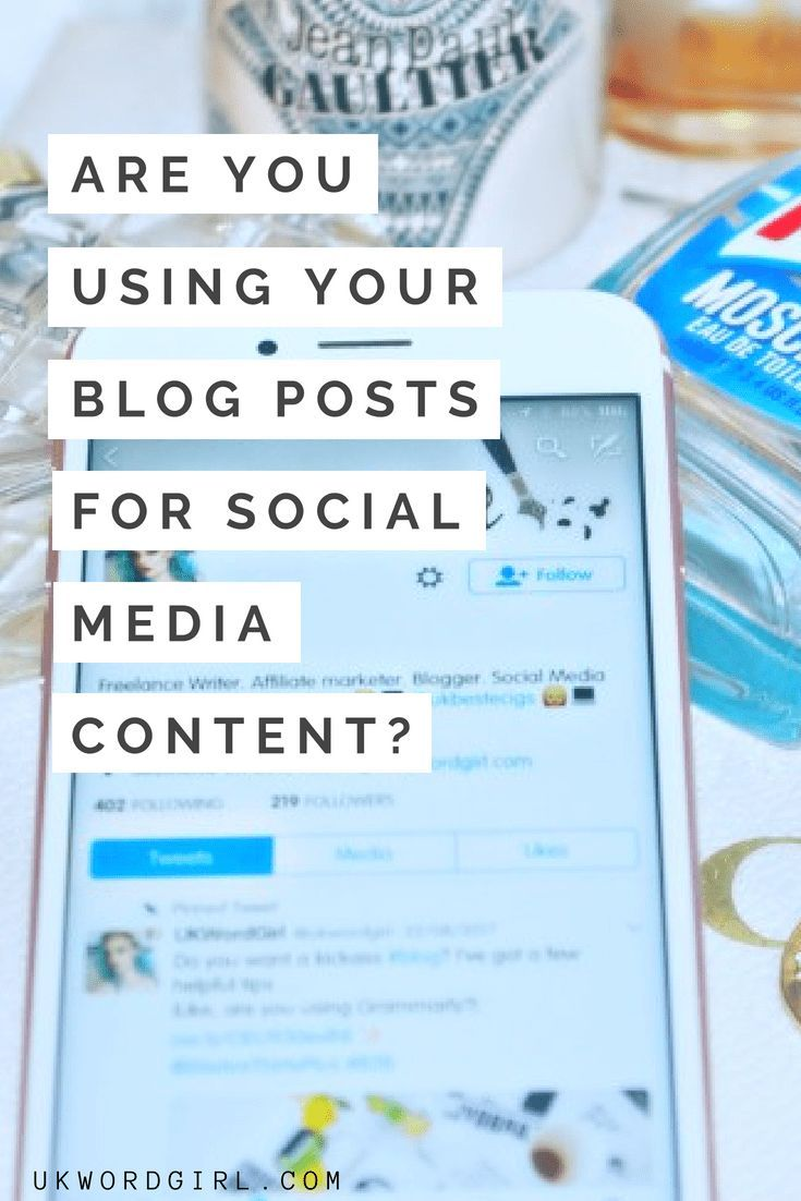 Are you using your blog posts for social media content