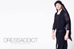 Deux Hommes mag presents Dress Addict by Artem and Victor SS15