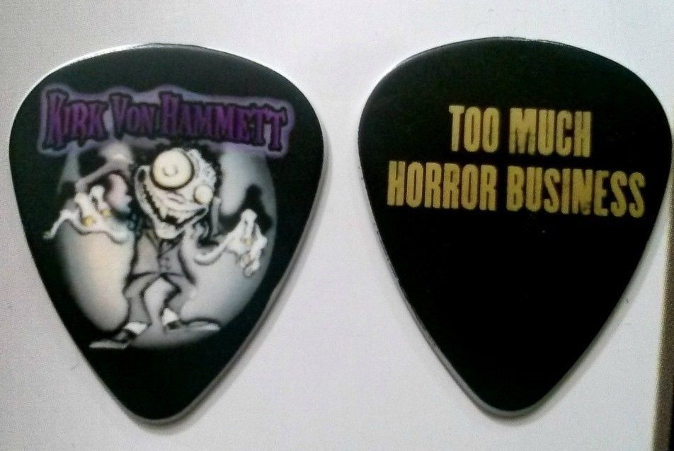 Super Rare Kirk Hammett Too Much Horror Business Guitar Pick Metallica!  #Metallica #KirkHammett #TooMuchHorrorBusiness