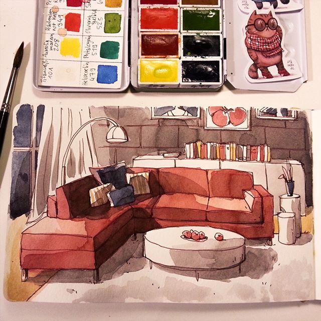 Ira Sluyterman Van Langeweyde Iraville Warm Living Room Instagram Photo