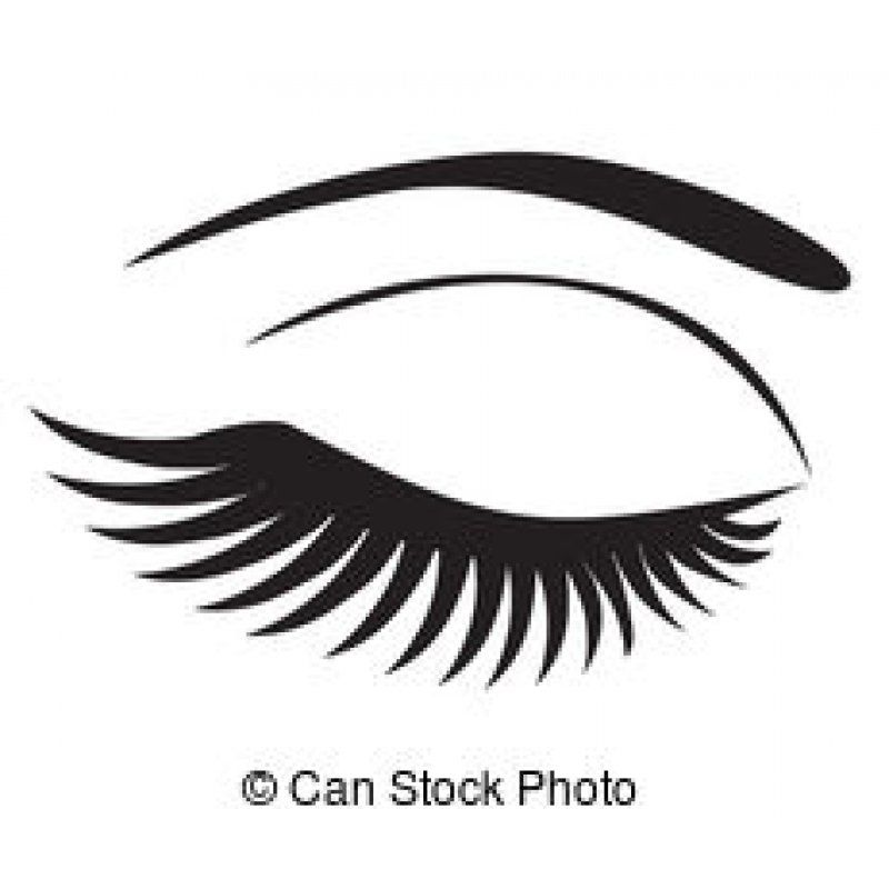 20+ Eyelash Clipart Black And White
