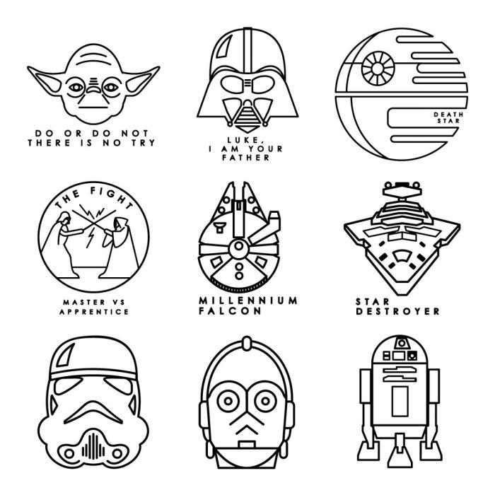 Digital Image Set, Star Wars™  – Galactic Line Art