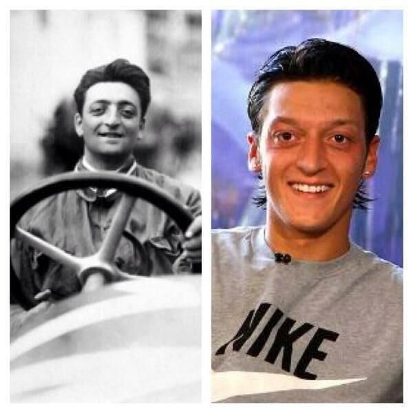 Enzo Ferrari Died The Same Year That His Look Alike Mesut Ozil Was Born Ferrari Unbelievable Facts Mesut özil