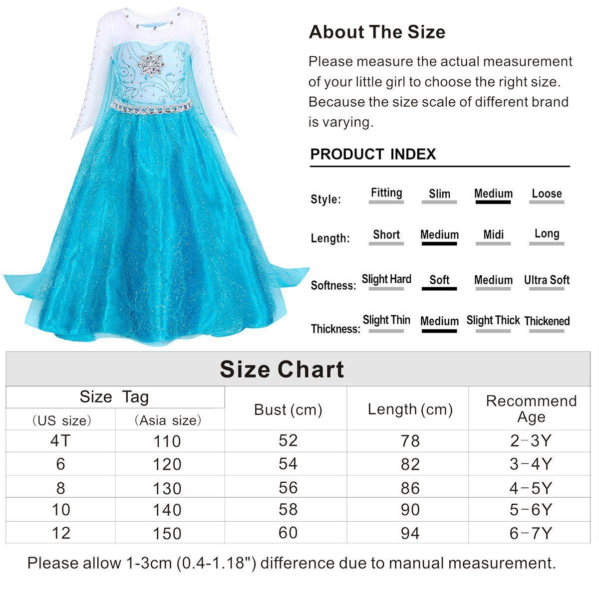 bace89f6c3cb Cotrio Princess Elsa Costume Dress Up Toddler Halloween Costumes ...