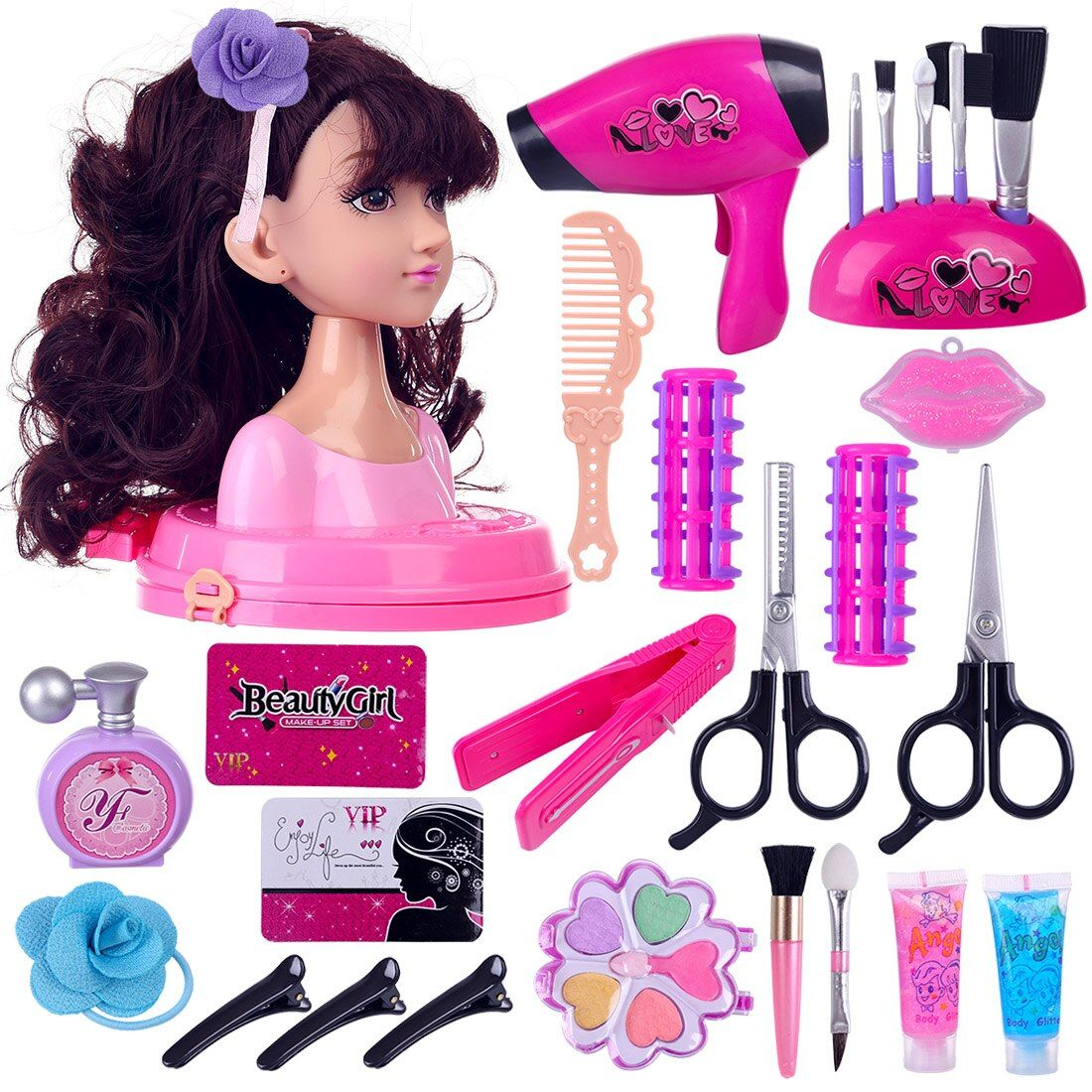 Best Price Children Doll Deluxe Styling Head Makeup Pretend Playset Hairstyle Makeup Toy Party Per In 2020 Makeup Toys Child Doll Cute Best Friend Gifts
