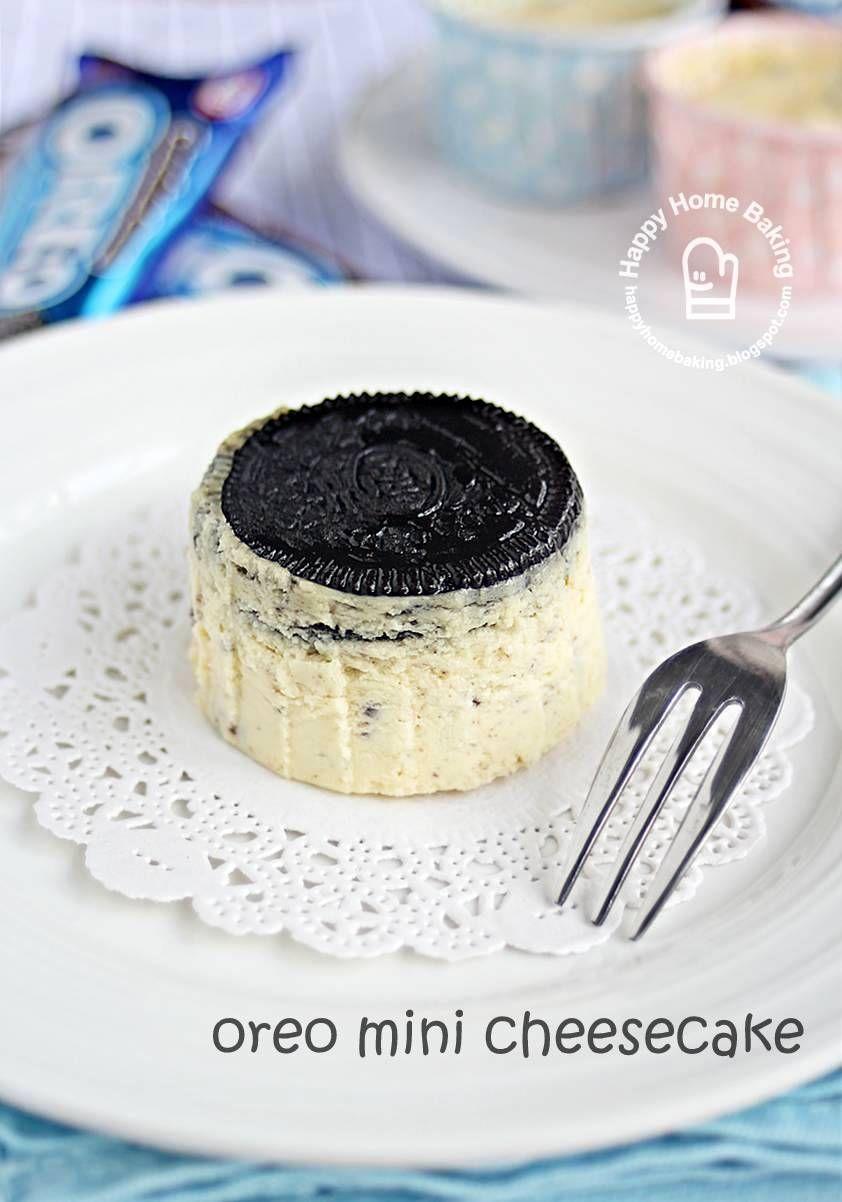 Happy Home Baking Mini Oreo Cheesecake Cakes Cheesecake