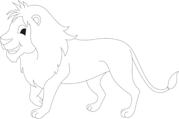 Cartoon Lion Coloring Page Cartoon Lion Coloring Pages