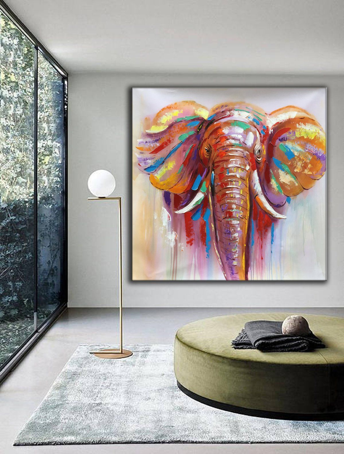 Contemporary art paintings extra large canvas art l464