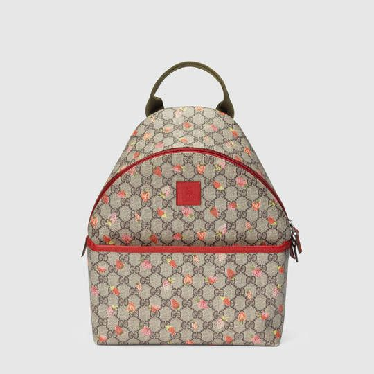 61721532391 Gucci Children s GG strawberry backpack Gucci Kids