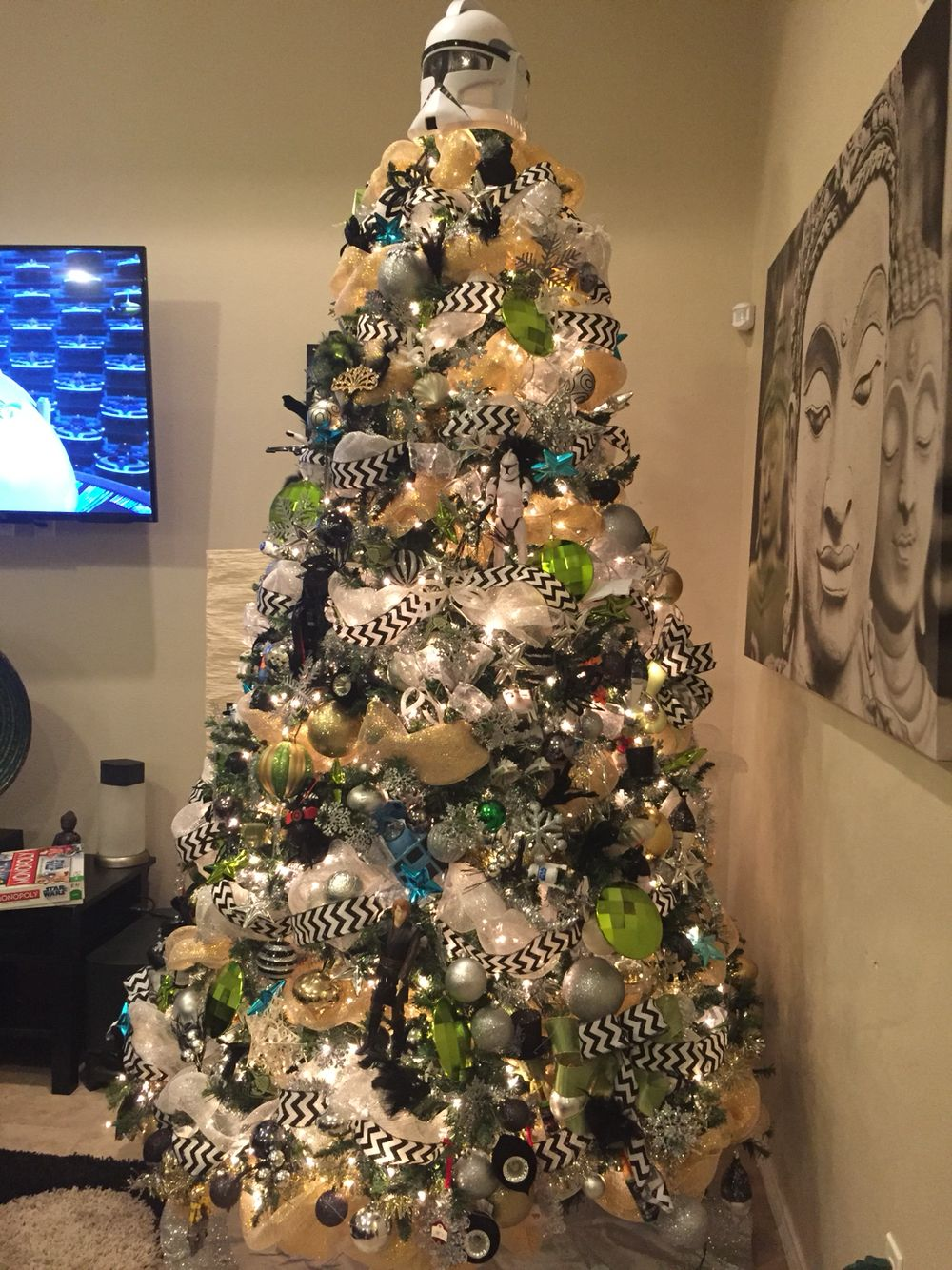 Star Wars Christmas tree 2015 | Star wars christmas tree | Pinterest ...