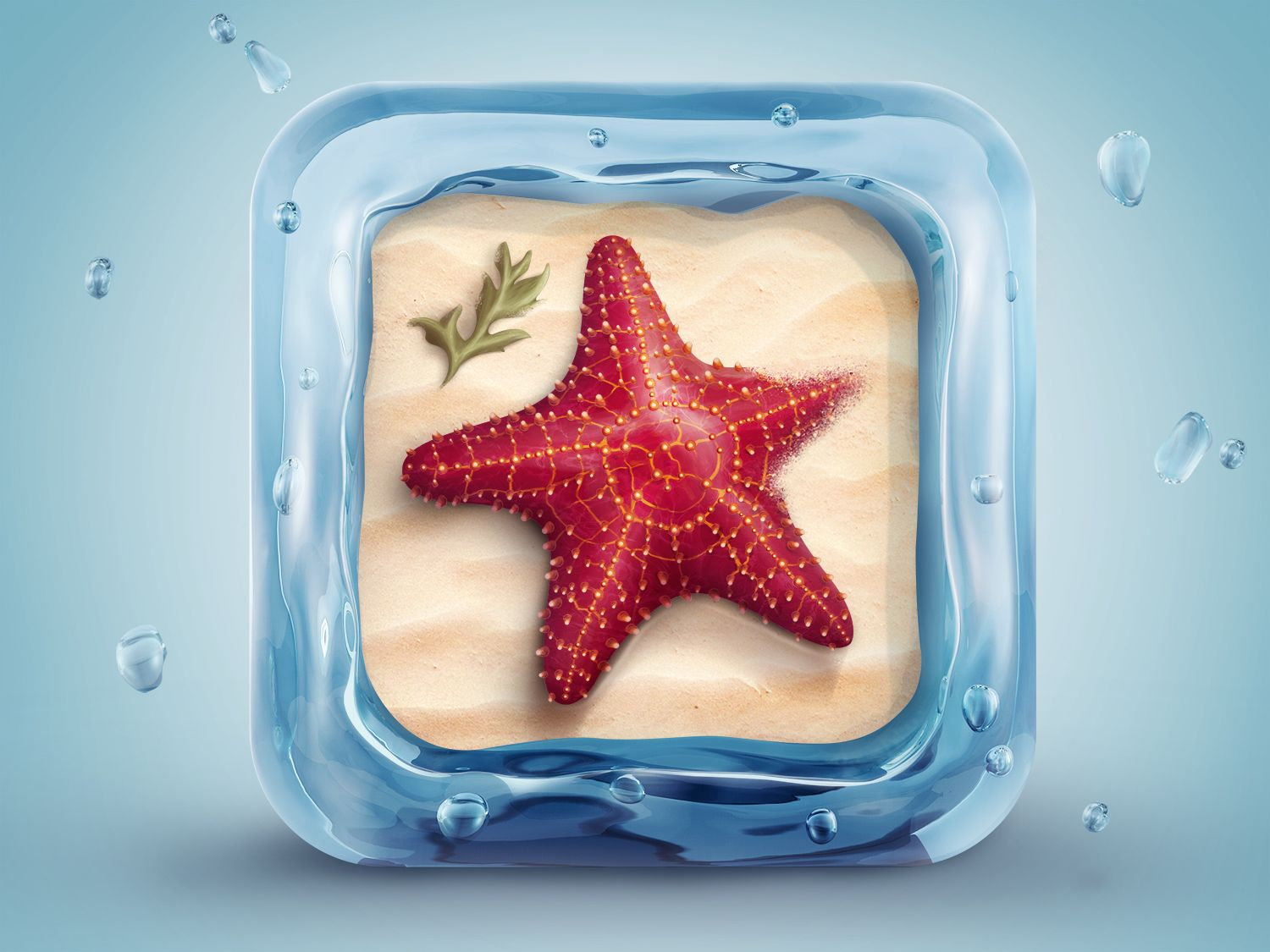 Its not an illustrator tutorial but the resulted icon is sooo create a beautifully designed starfish icon in collection of fresh photoshop tutorials baditri Gallery