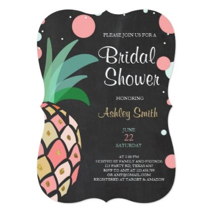 #bridal #shower #invitations - #Pineapple Bridal shower invitation Tropical Baby