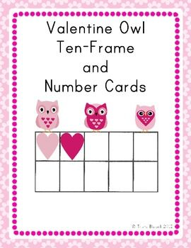 FREEBIE! Valentine Owl Ten Frame and Number Cards