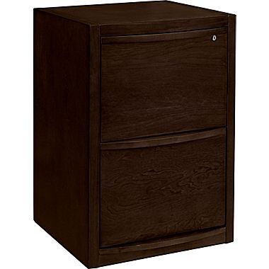 Staples Deluxe Wood Vertical File Cabinet 2 Drawer Espresso