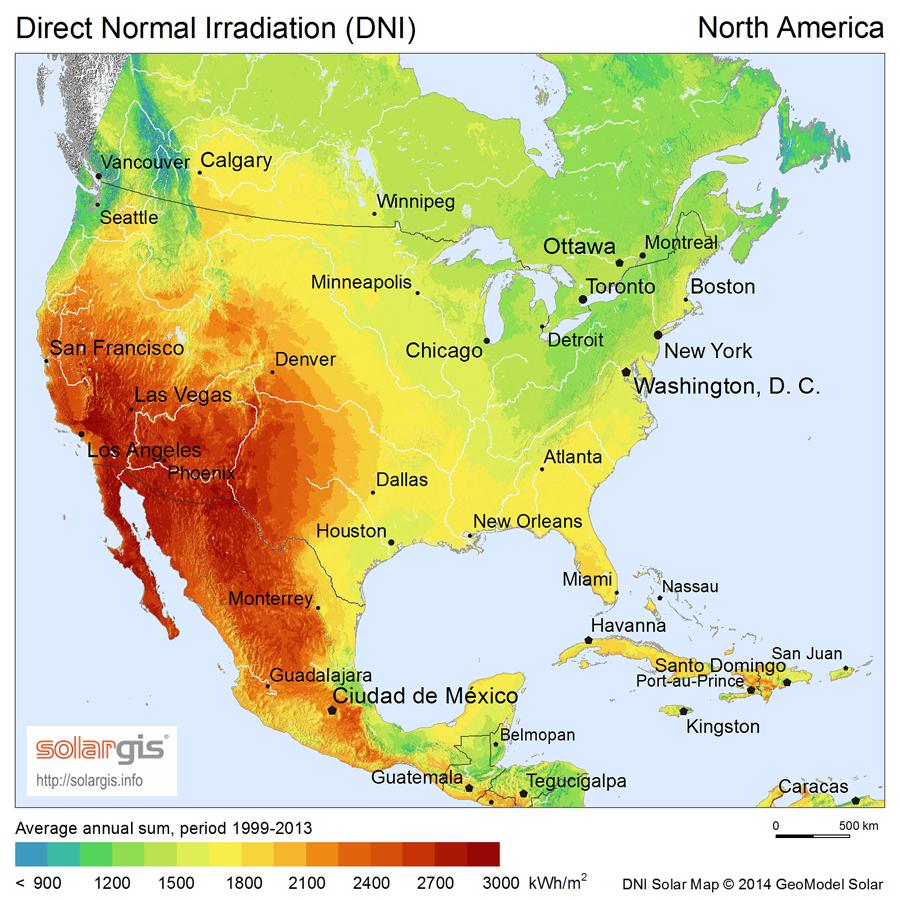solargis north america dni solar resource map en