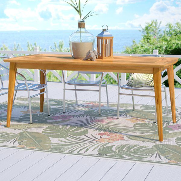 And for how incredibly sturdy and solid it is, it's a great value. Beachcrest Home Telma Teak Dining Table & Reviews ...