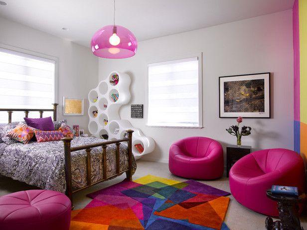 Superbe Coole Zimmer Ideen Und Kreative Zimmer Deko Ideen Für  Jugendliche_modernes Jugendzimmer Mödchen In Pink E1446647793958