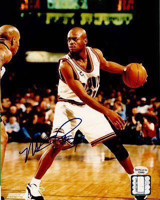 3ca1e9aebd7 ... Nick Van Exel Denver Nuggets Autographed 8x10 Photo 1993-2006 San  Antonio SL COA .