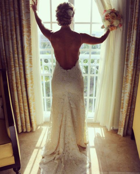 Bride Purchased This Low Back Wedding Gown At Boca Raton Bridal