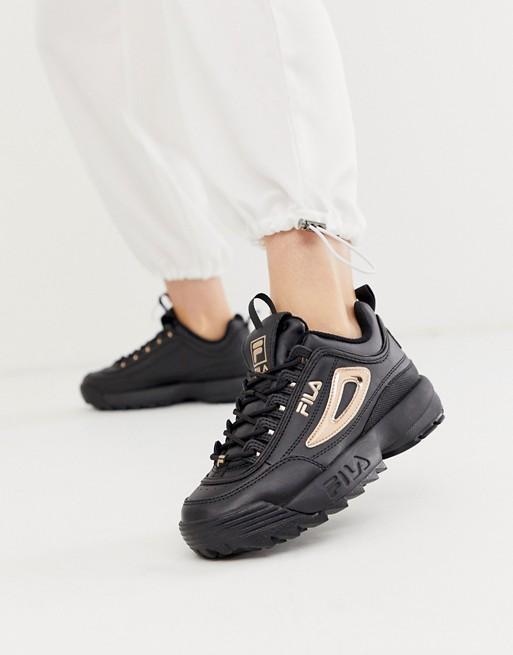 Fila Disruptor II sneakers in black