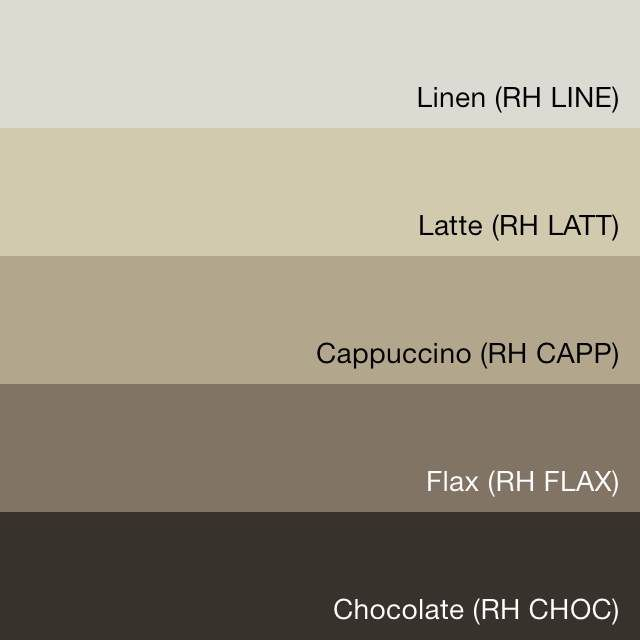 Swatchdeck restoration hardware flax collection cabin for Restoration hardware paint colors photos