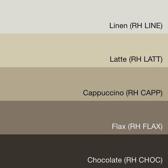 """Restoration Hardware Paint Kitchen: SwatchDeck Restoration Hardware """"Flax Collection"""""""