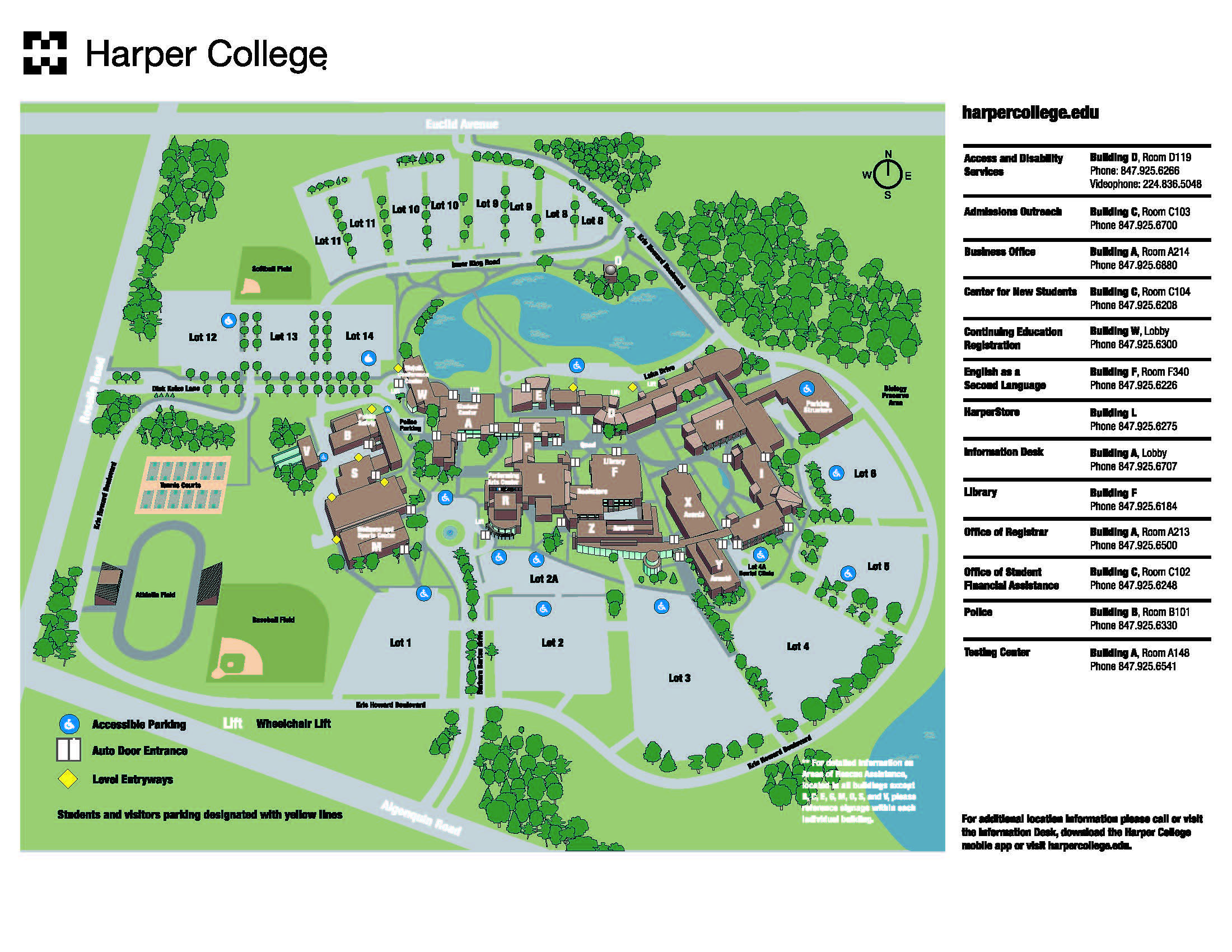 You Are Here Harper College Campus Map Harper College Information
