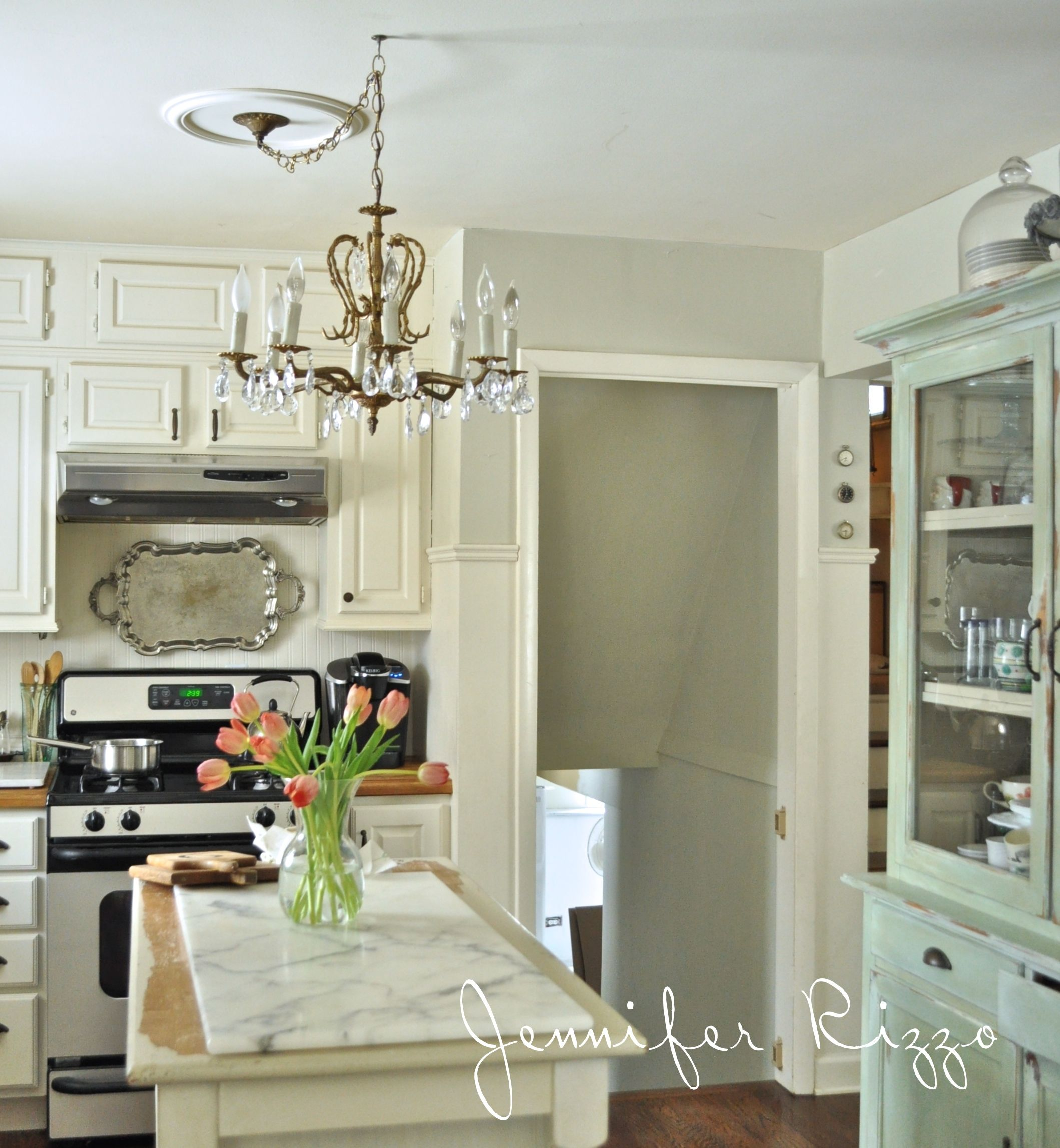 Walls are a mixture of coastal fog and tapestry beige for Benjamin moore linen white kitchen cabinets