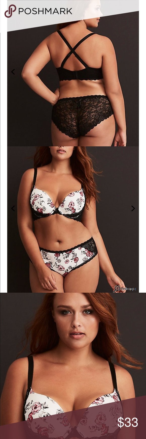 9f21ba239f Torrid Floral Skull Print Push-Up Plunge Bra This Push-up Bra simply has to  be worn with a sheer top  the print is amazing. The white microfiber cups  have ...