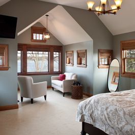 Sw Unusual Grey Color With Brown Trims Remodel Bedroom