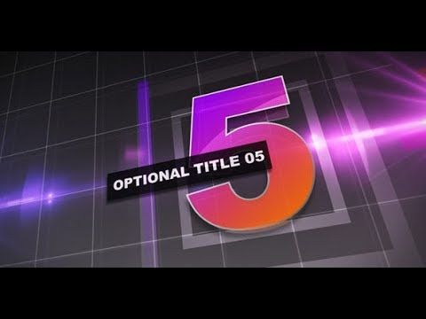 Countdown Titles AF Templates videohive After Effects
