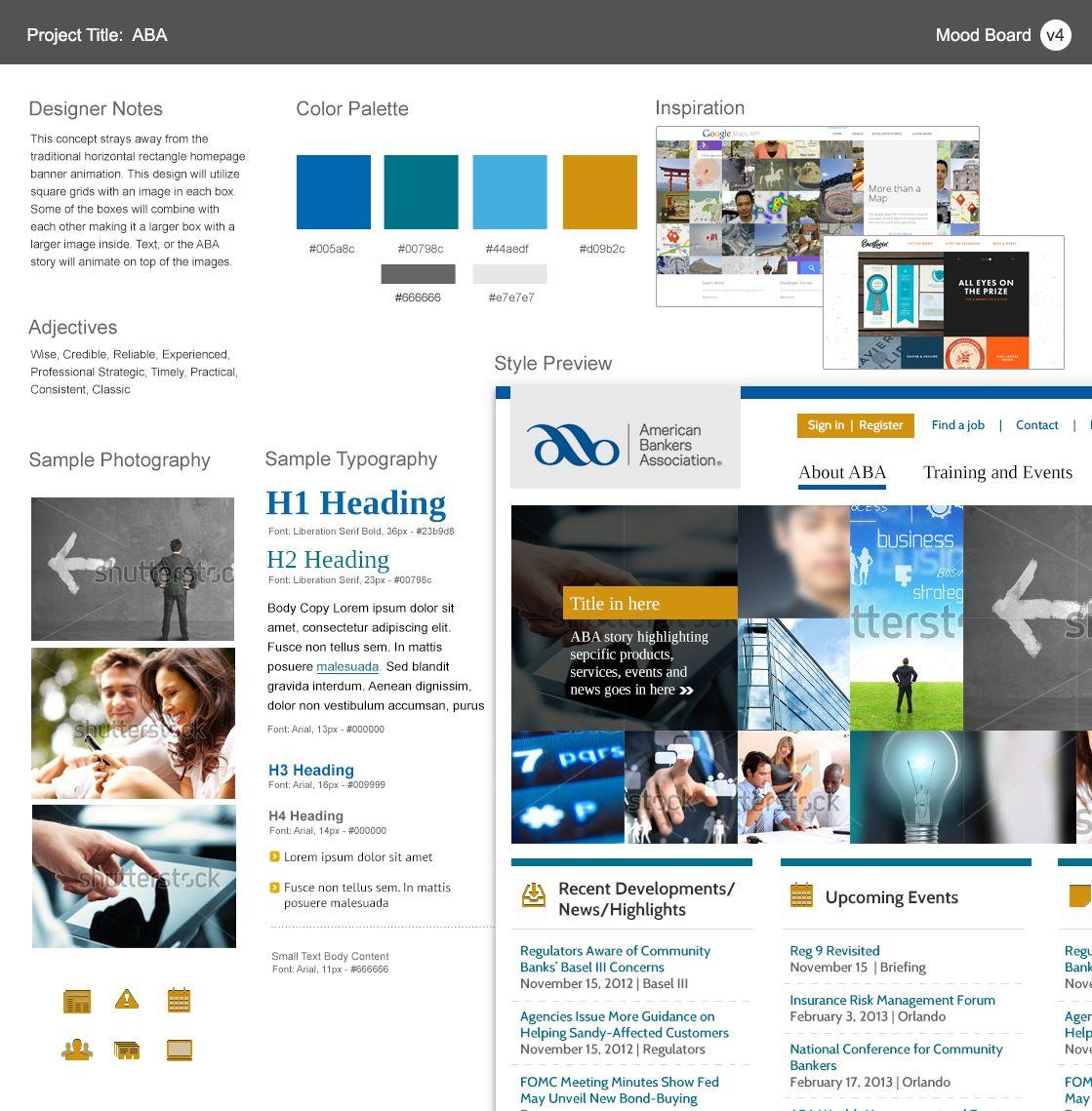 Aba Moodboard 4 Moodboard Bank Webdesign Clean Uncluttered Design Mood Board Web Design Color Palette