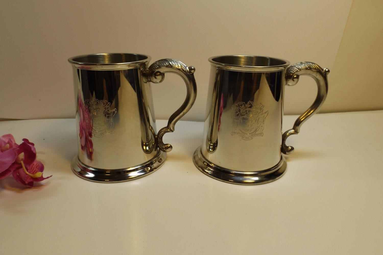 Sheffield England lot of 2 Vintage Mugs, Genuine Pewter ...