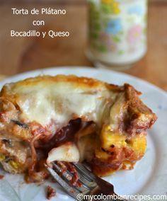 Receta de torta de plátano maduro en español