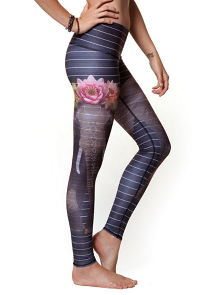 6eadedb268 Teeki Women's Love The Elephant Hot Pant Teeki Yoga, Hot Pants, Tight  Leggings,