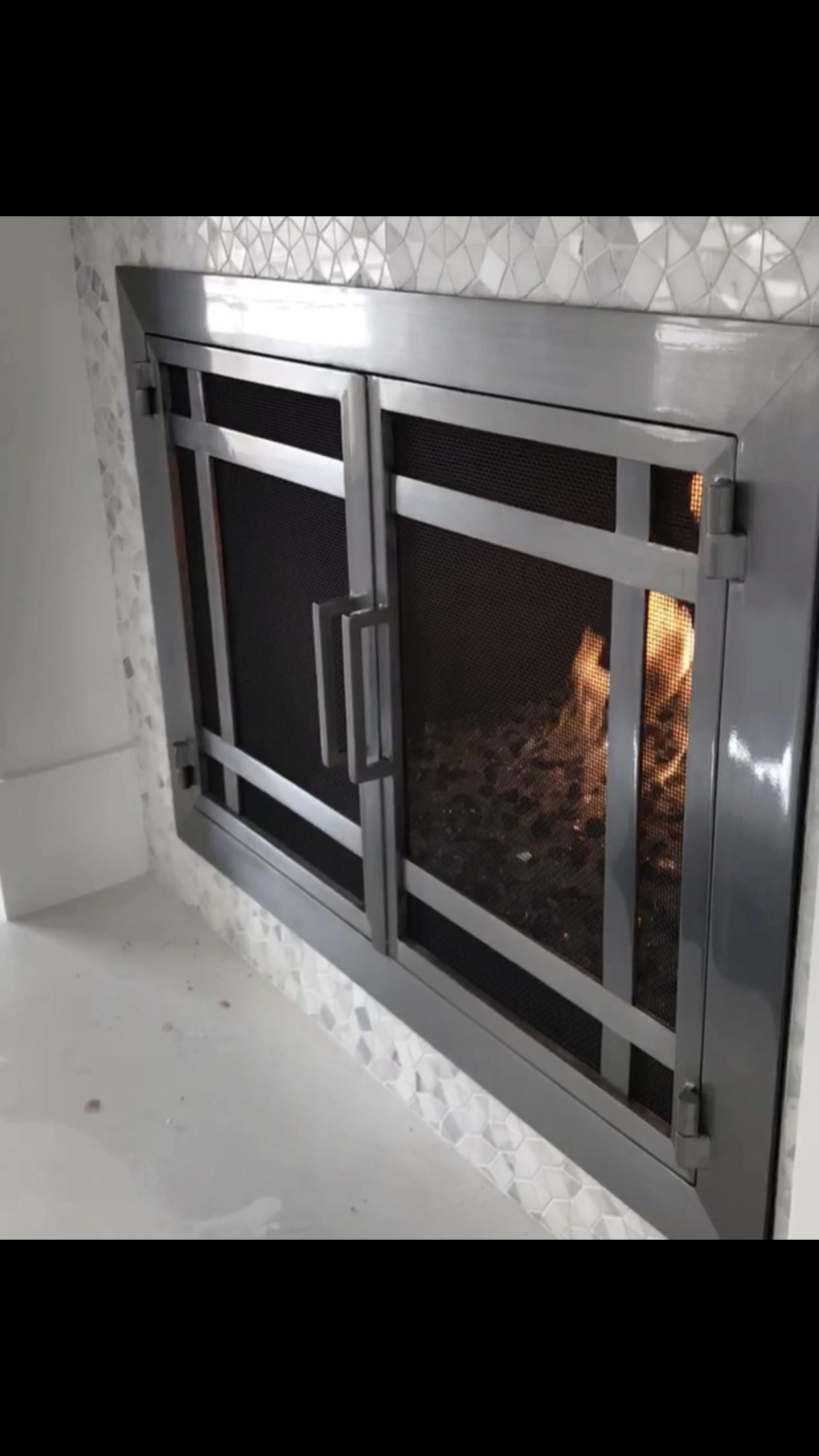 Modern Fireplace Doors Custom Fireplace Door Modern Fireplace