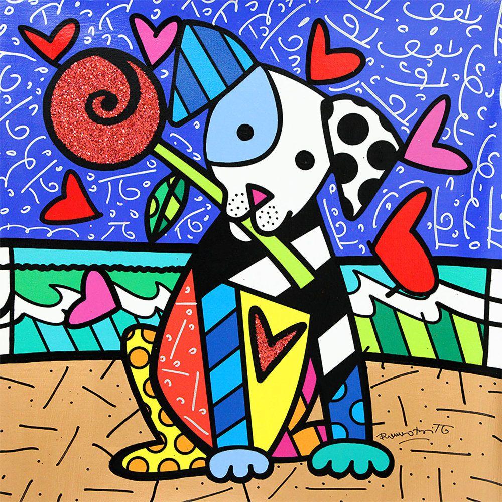 Romero Britto Puppy Love Romero Britto Britto Romero