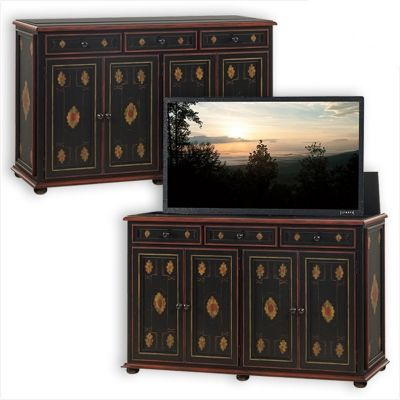 Old Biscayne Designs 9359 Chancellor Chest With Tv Lift Available At Hickory Park Furniture Galleries