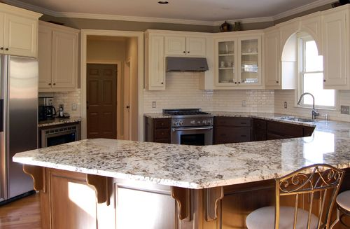 stained lower cabinets painted upper cabinets | cabinets ...