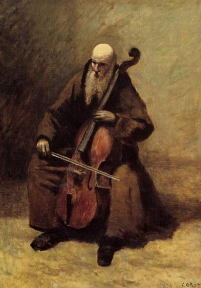 camille corot the monk 1874 corot pinterest. Black Bedroom Furniture Sets. Home Design Ideas