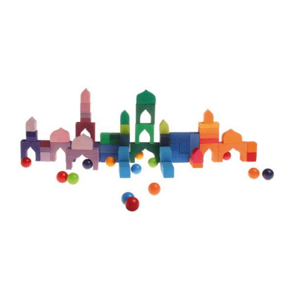 Ayuda A Tus Niños A Compartir Las Mil Y Una Noches Con Sherezade Y Este Puzzle De Colores Impresionan Bloques De Construcción Las 1001 Noches Puzzles De Madera