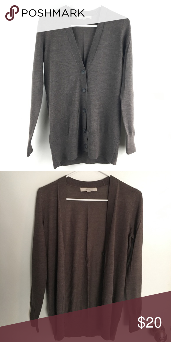 Loft cardigan, XS chocolate brown | Tops, Cardigans and Brown